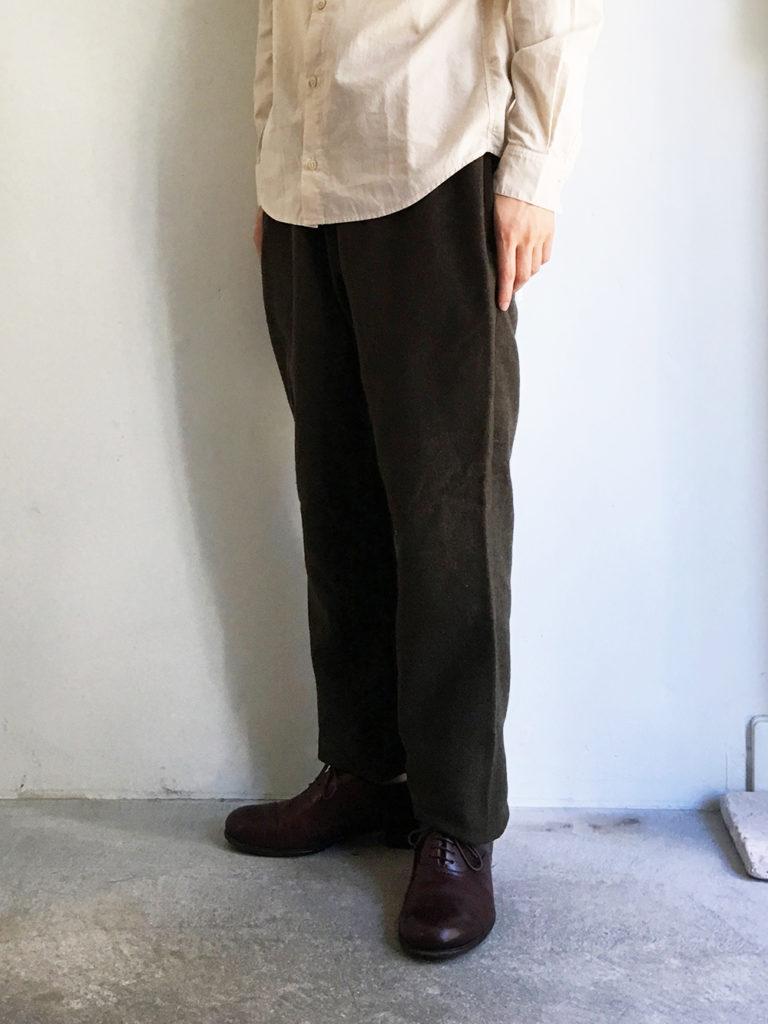 LOLO _ 綿ウール 裏付き イージーパンツ / Khaki