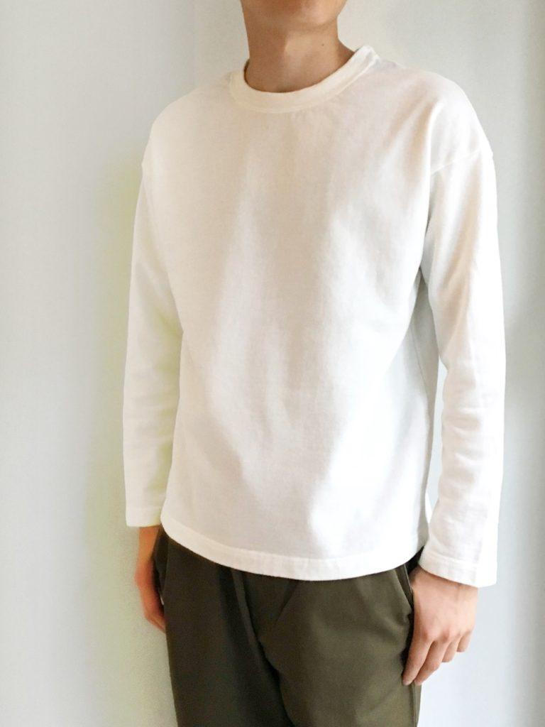 RINEN _ 20/1オーガニック裏毛クルーネック / White