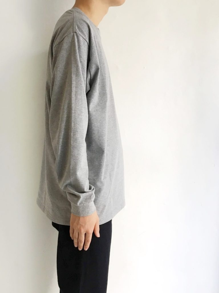 orSlow _ ロングスリーブ  T-SHIRT / HEATHER GRAY