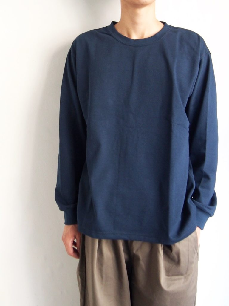 orSlow _ ロングスリーブ T-SHIRT  / NAVY
