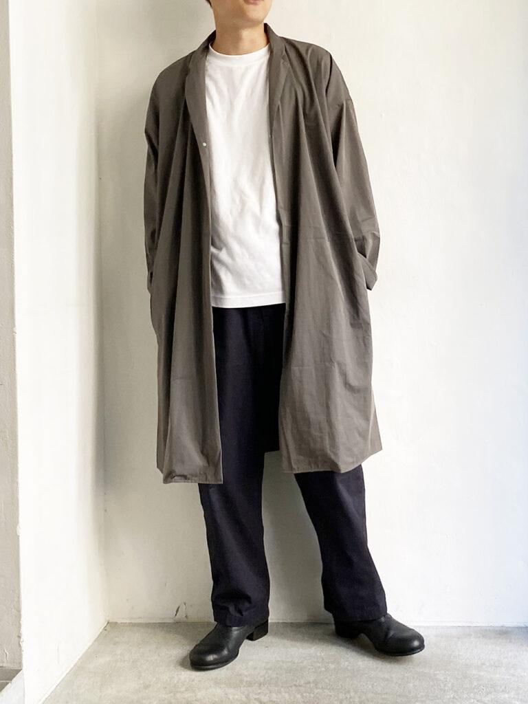 MUYA _ C/N  Regular collar coat / Gray
