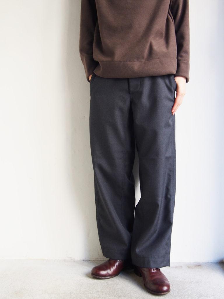 ordinary fits _ ウールサージ NEW PARK トラウザー / GRAY