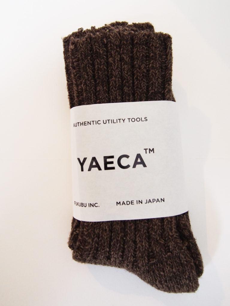 YAECA _ Wool Silk ソックス / BROWN