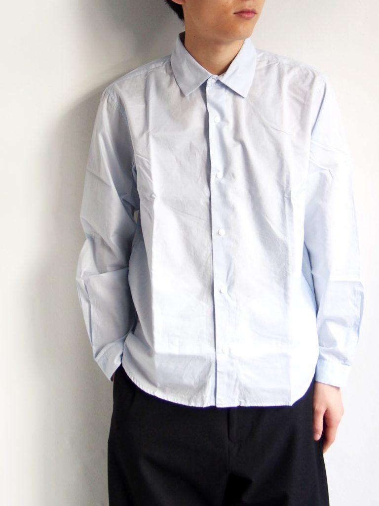 YAECA _ コンフォートリラックスシャツ / SAX BLUE