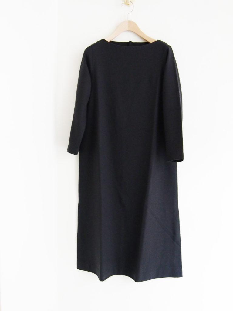 evam eva (WOMEN) _ wool OP / ブルーグレー