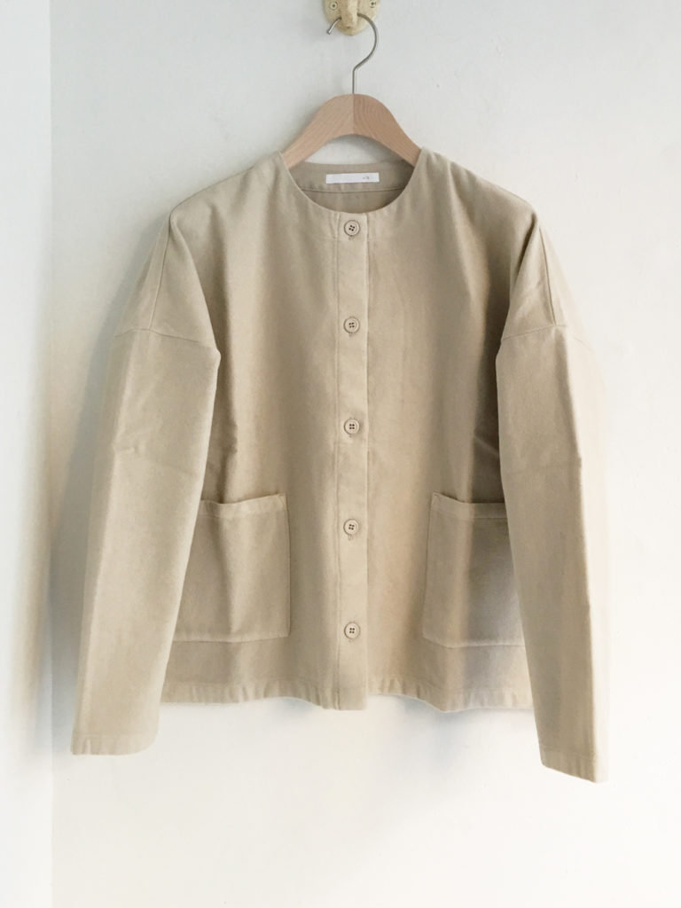 evam eva (WOMEN) _ flannel cotton スクエア カーディガン / Oyster