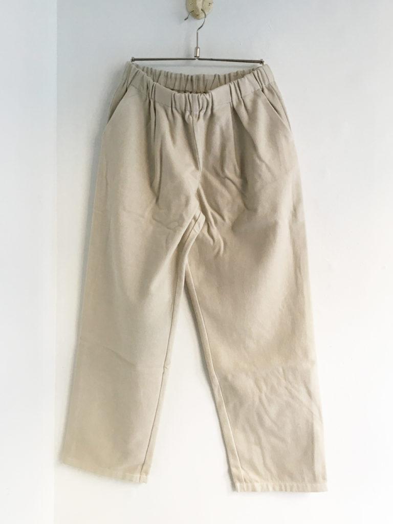 evam eva (WOMEN) _ flannel cotton straight イージーパンツ / Oyster