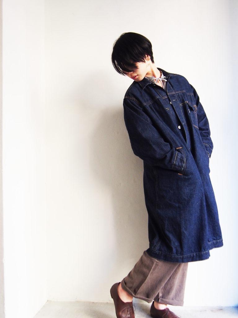 orSlow (WOMEN) _ プリーツド フロント コート / ONE WASH