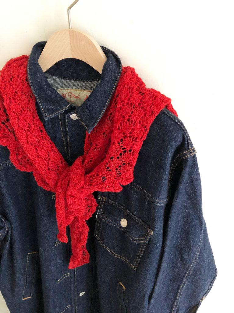 esencia _ triangle scarf / Red