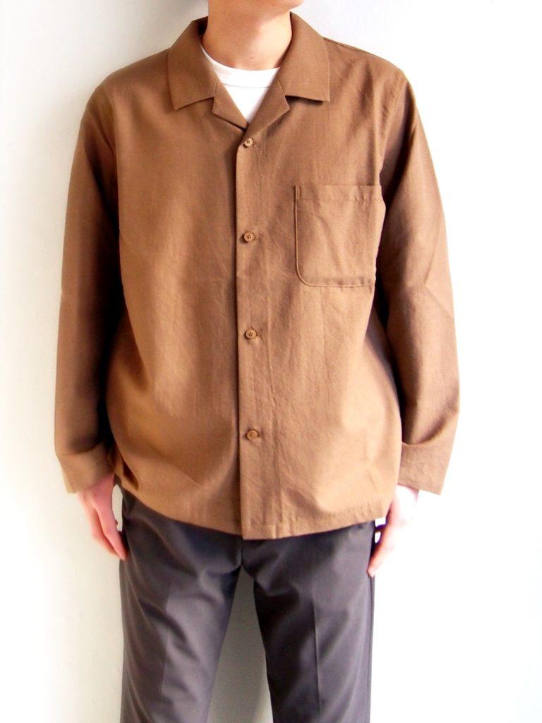 YAECA _ パジャマシャツ / Brown