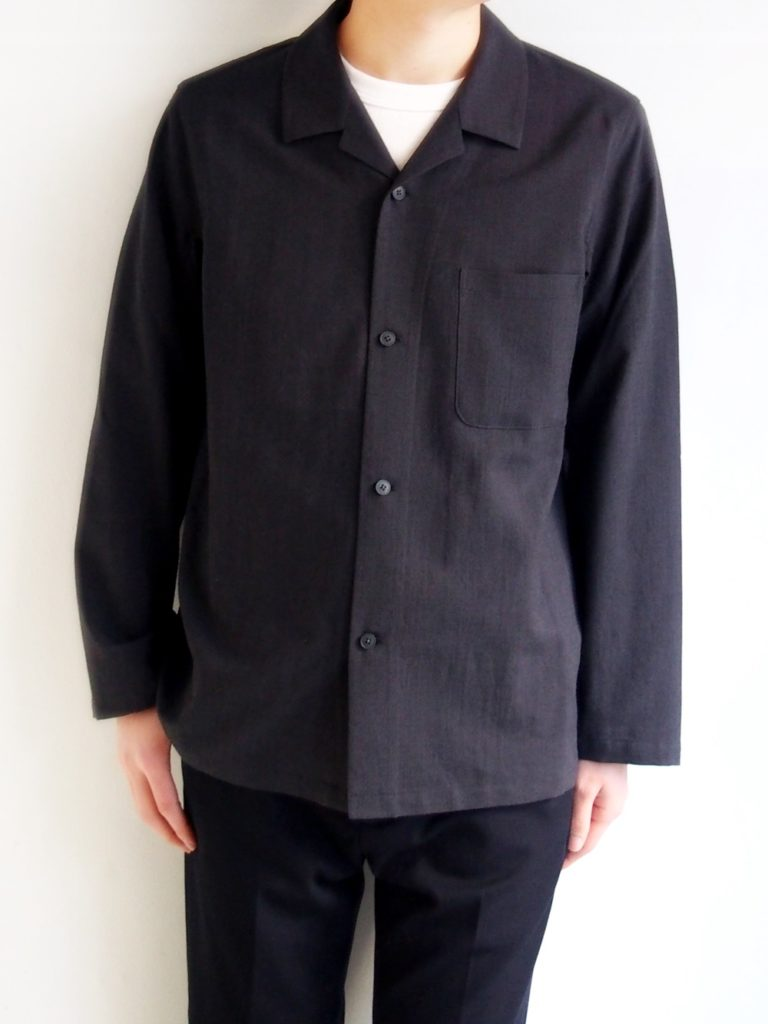 YAECA _ パジャマシャツ / Charcoal Gray