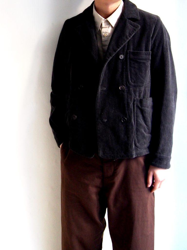 YAECA _ ダブルプレステッドジャケット / Charcoal Gray