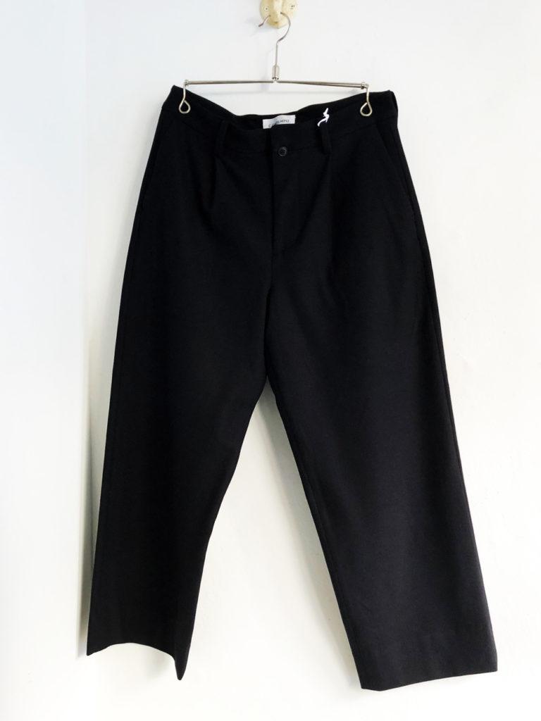 YAECA _ 2way パンツ タックストレート  / Black