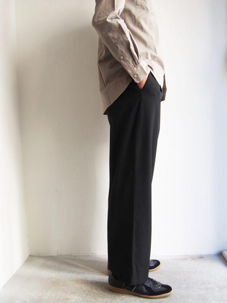 YAECA _ 2way パンツ タックストレート / Dark Gray