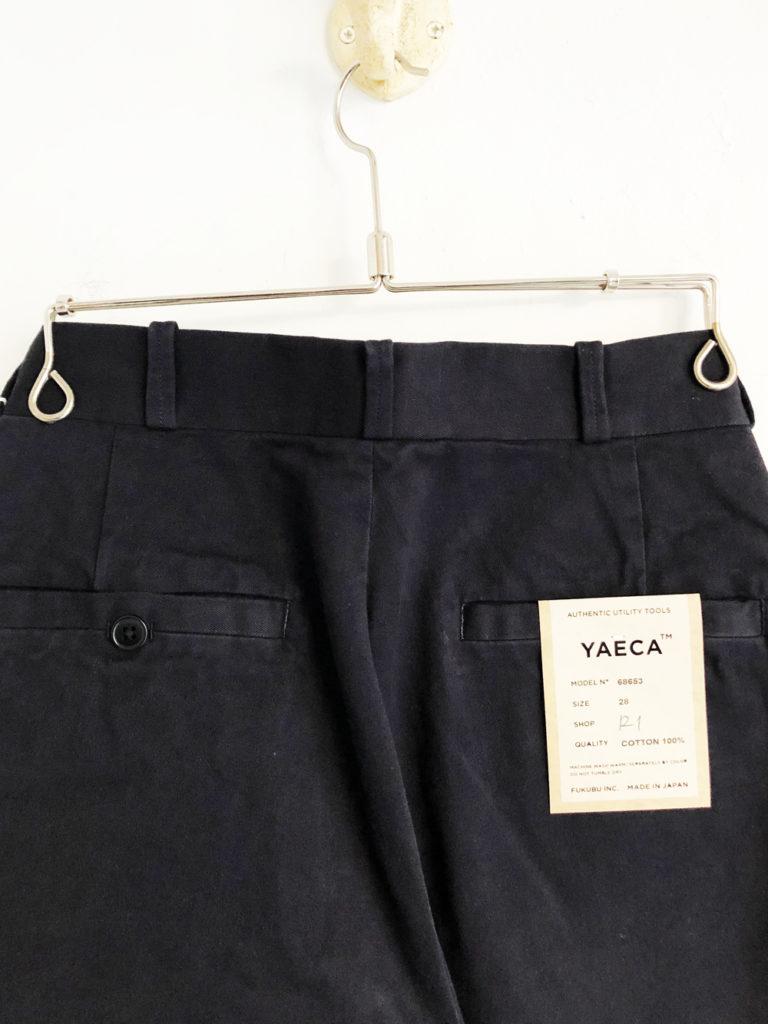 YAECA (WOMEN)_チノワイドテーパード(Ladies) / Navy