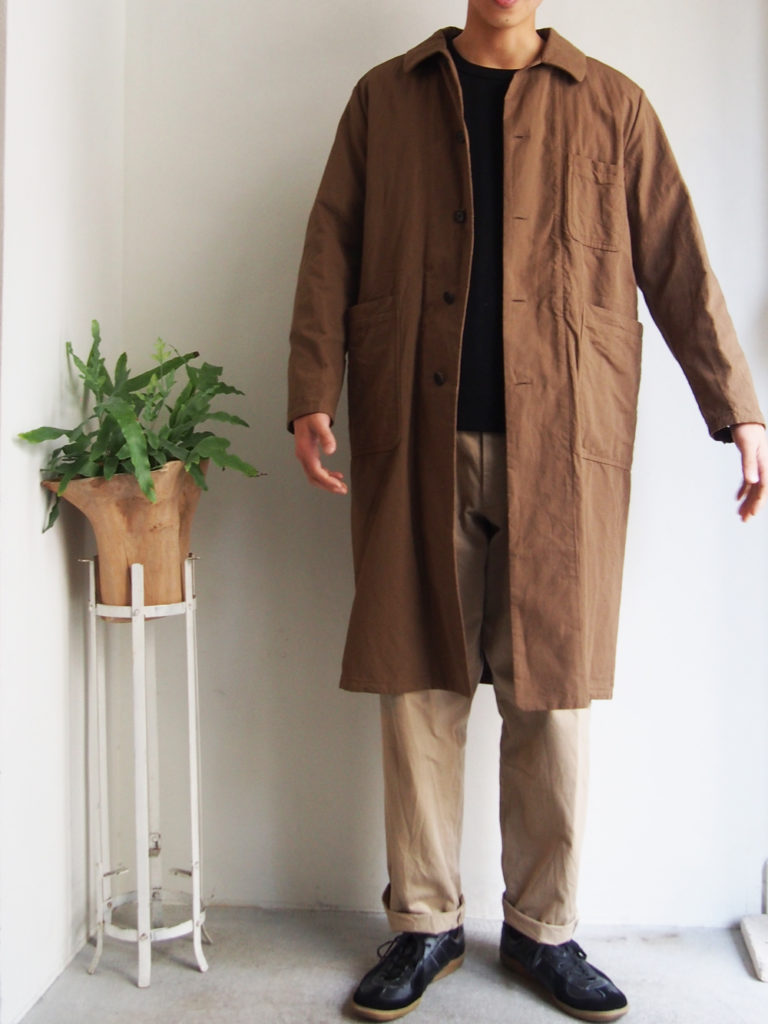 YAECA WRITE _ OVER COAT  / Mocha
