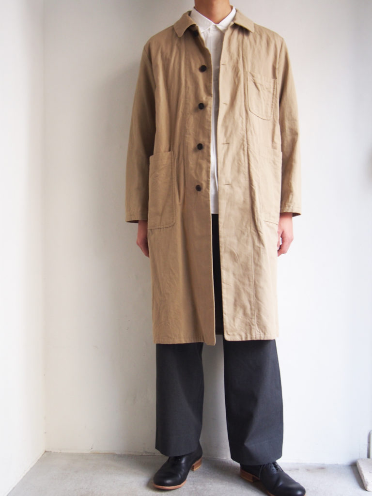 YAECA WRITE _ OVER COAT  / Sand
