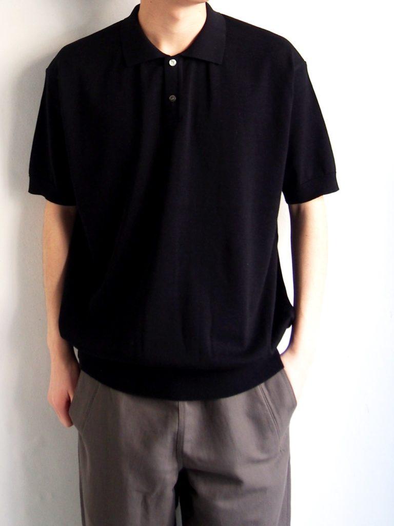 ordinary fits _ POLO KNIT / Black