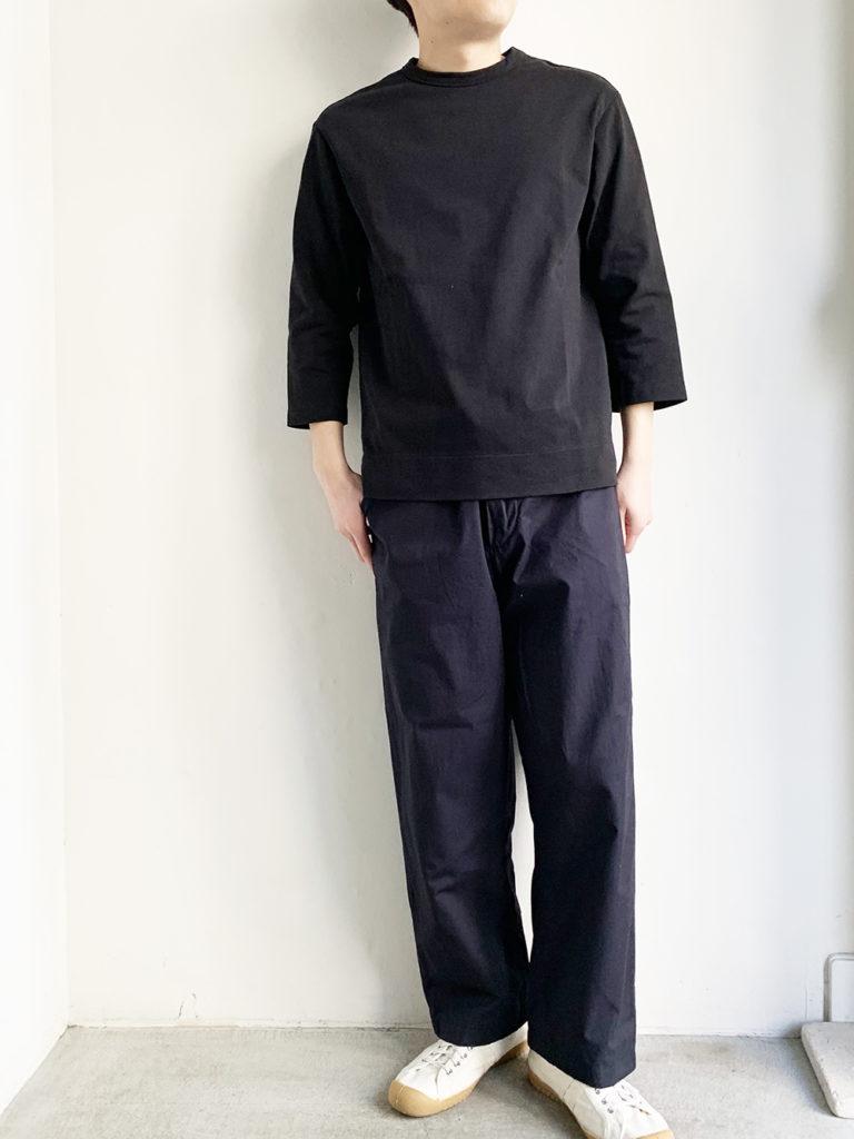 LAMOND _バスク7分 Tシャツ  / Black