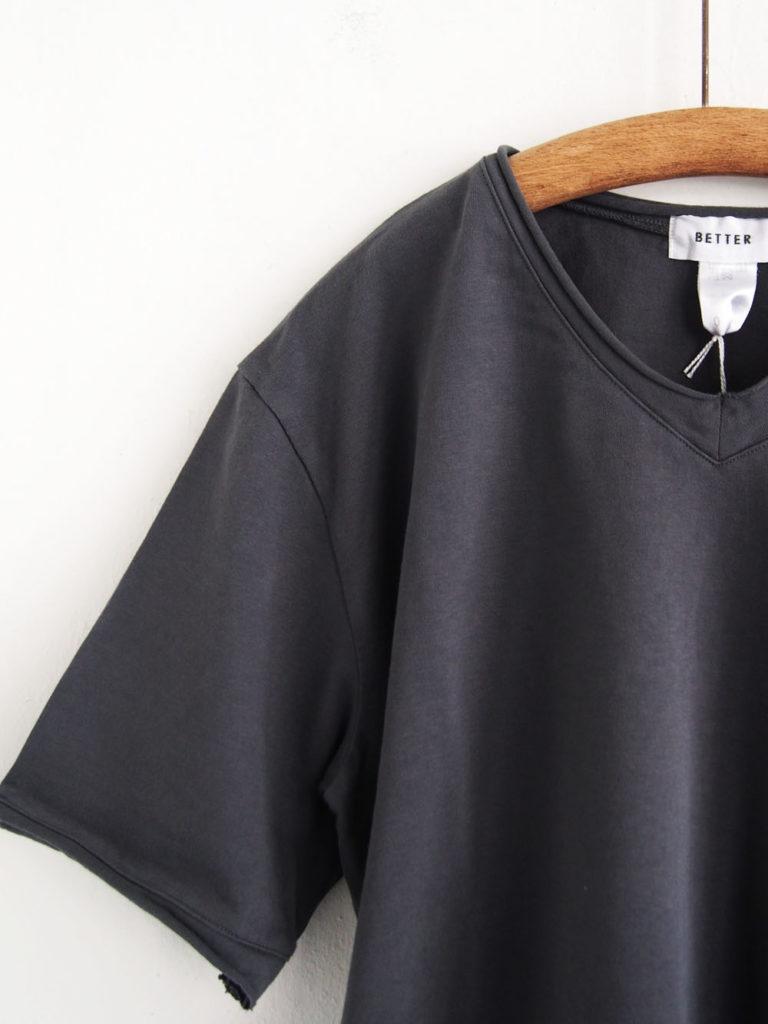BETTER (WOMEN) _ カットオフ T-shirt / Charcoal