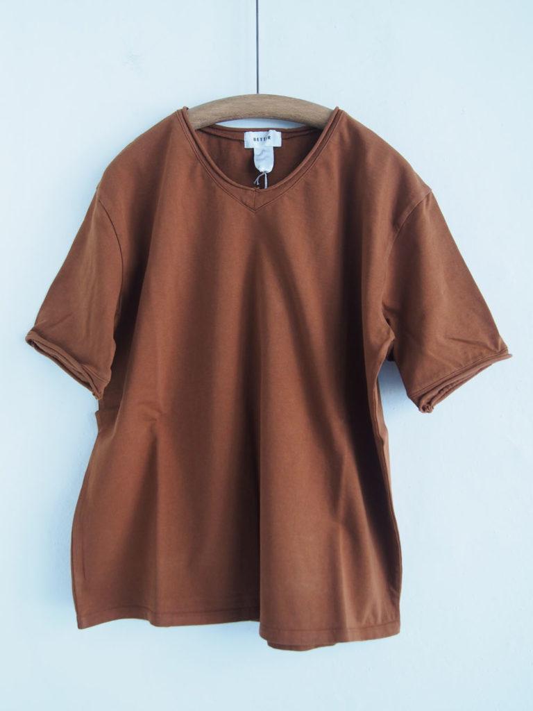 BETTER (WOMEN) _ カットオフ T-shirt / Terracotta