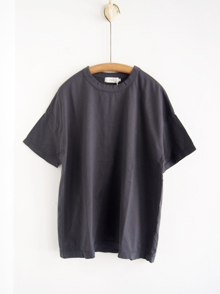 RINEN ( WOMEN) _60/2天竺 半袖ワイドTシャツ / Charcoal
