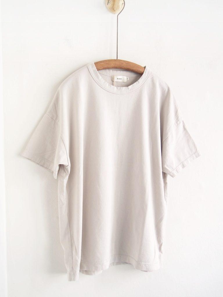 RINEN ( WOMEN) _60/2天竺 半袖ワイドTシャツ / Greige