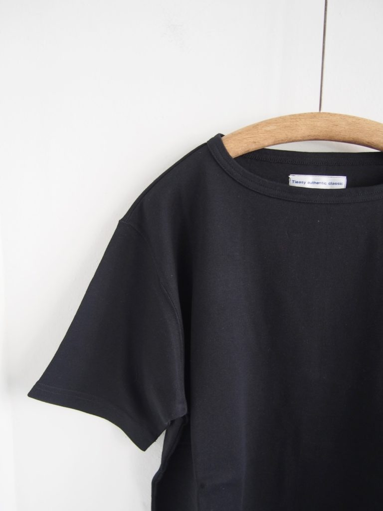 Tieasy _ NEW SUMMER KNIT CREW T / Black