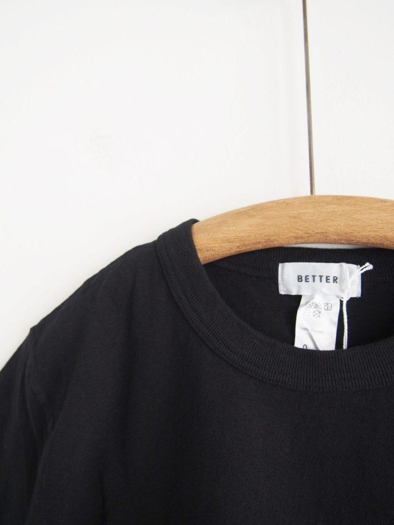 BETTER (WOMEN) _ ミッドウェイト クルーネック S/S Tシャツ / Black