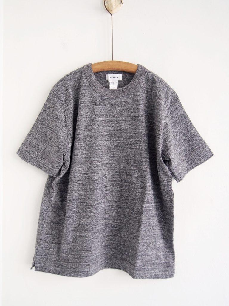 BETTER (WOMEN) _ ミッドウェイト クルーネック S/S Tシャツ / Gray