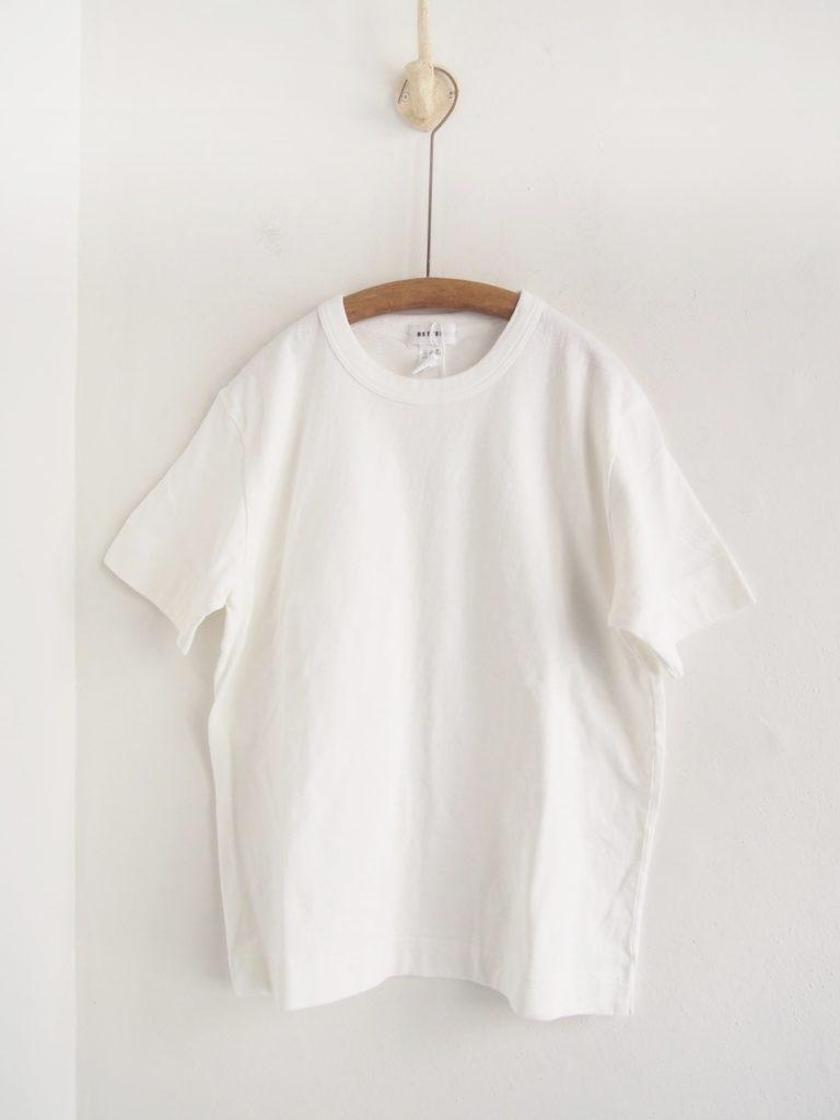 BETTER (WOMEN) _ ミッドウェイト クルーネック S/S Tシャツ / White