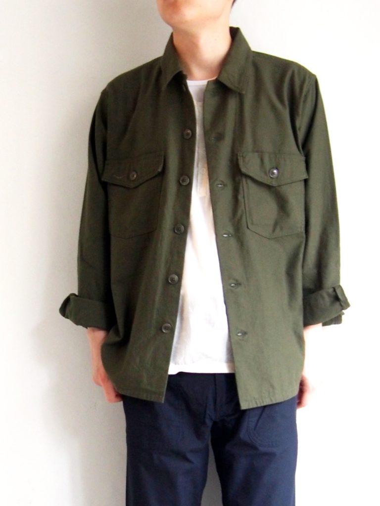 YAECA _ ベイカーシャツ / Olive
