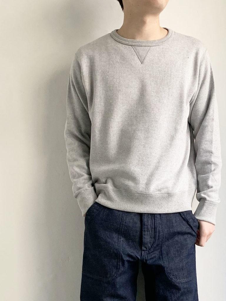 YAECA _ 裏毛スウェット30005  / Gray