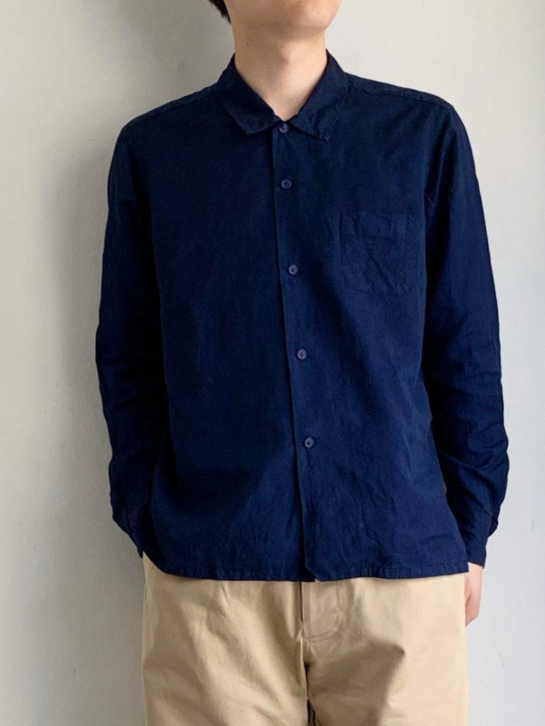 AULICO _ オープンカラーシャツ / Navy