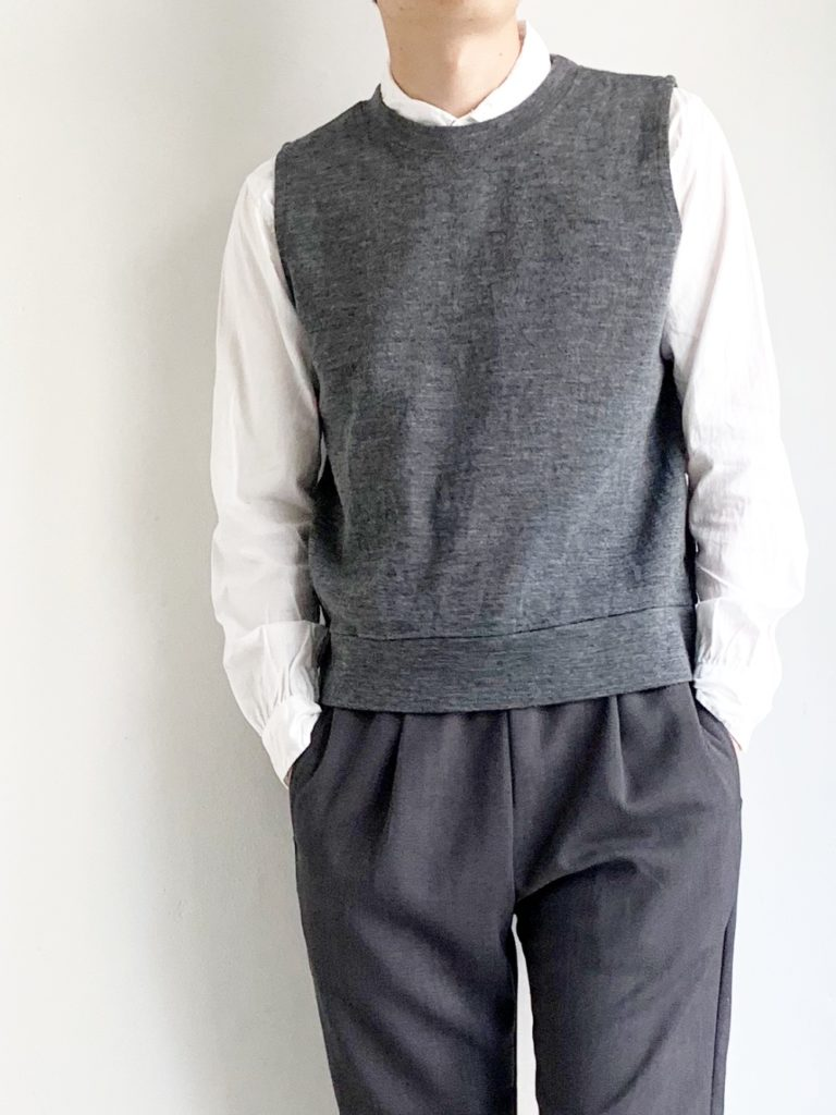 RINEN _ 1/24ウールミラノリブベスト / Gray