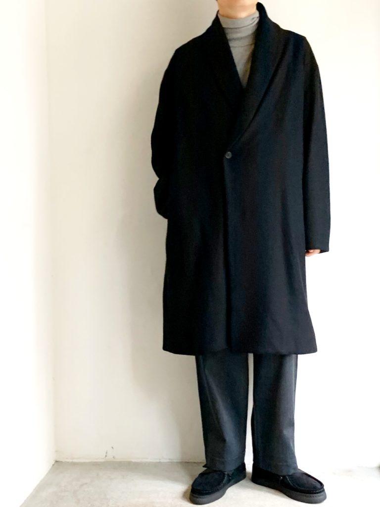 LAMOND. _ カルゼ編みニットコート / BLACK