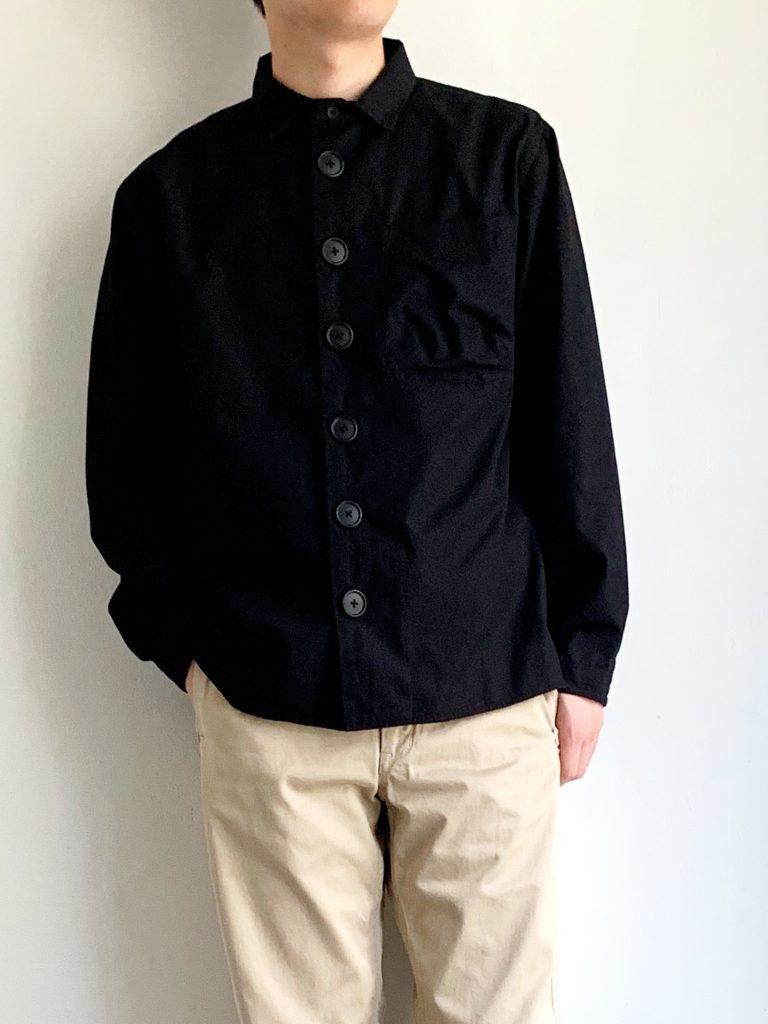 LOLO _ デカボタンシャツ / BLACK