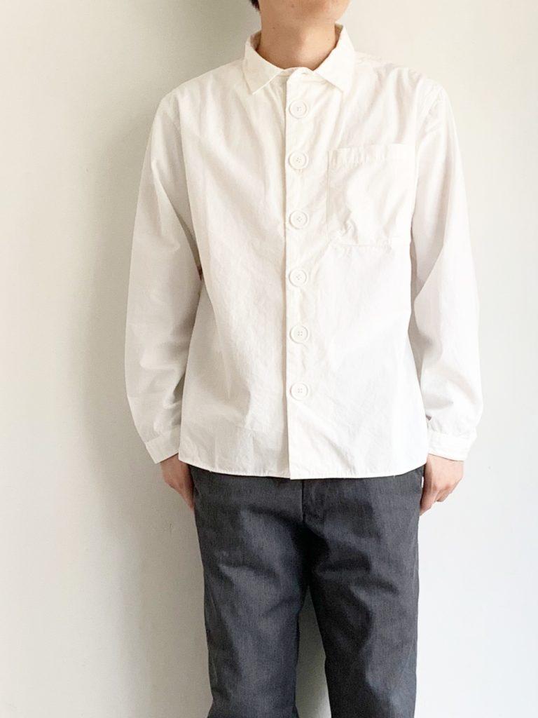 LOLO _ デカボタンシャツ / WHITE