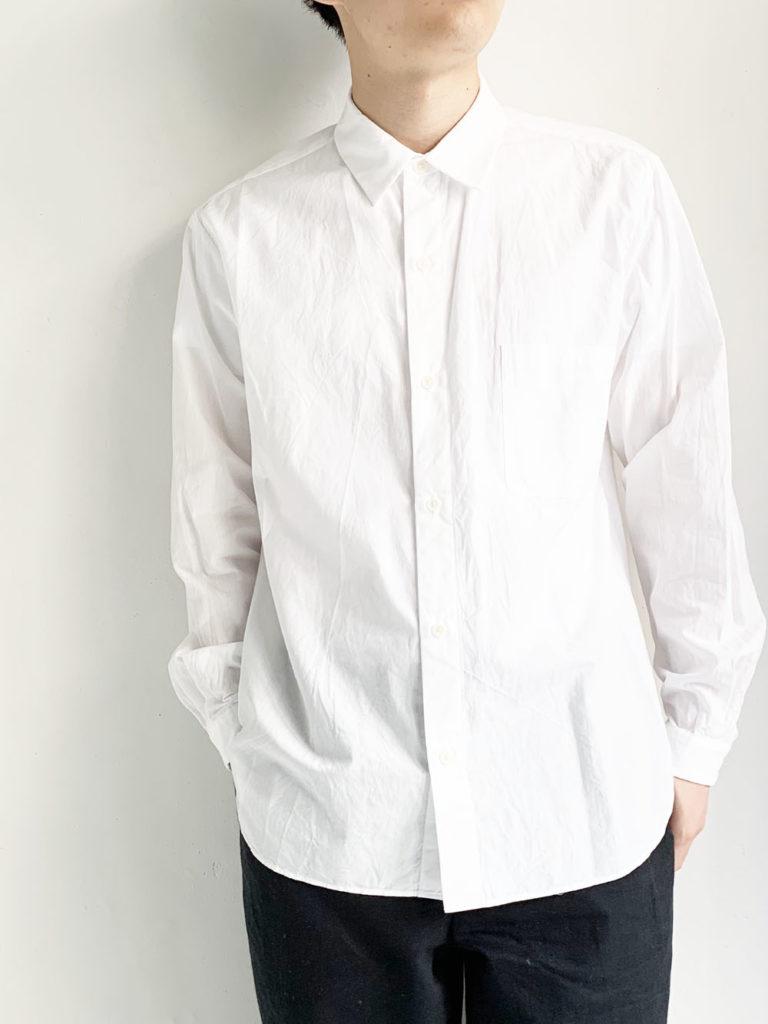 YAECA _ ボタンシャツ  49151  / White