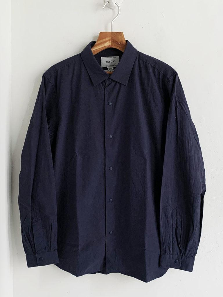 YAECA _ コンフォートシャツ リラックスロング 10142/ Huckleberry