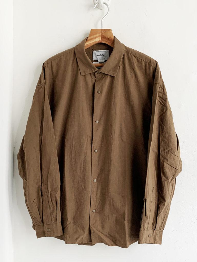YAECA _ コンフォートシャツ エクストラワイド 10143/ Chestnut