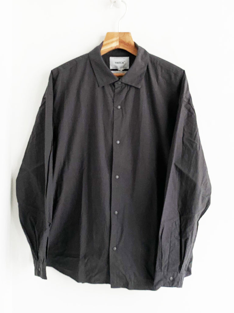 YAECA _ コンフォートシャツ エクストラワイド 10143/ Logwood