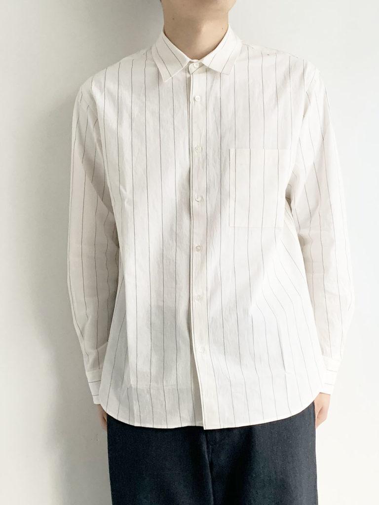 LAMOND. _ コンフォートストライプシャツ / Off white