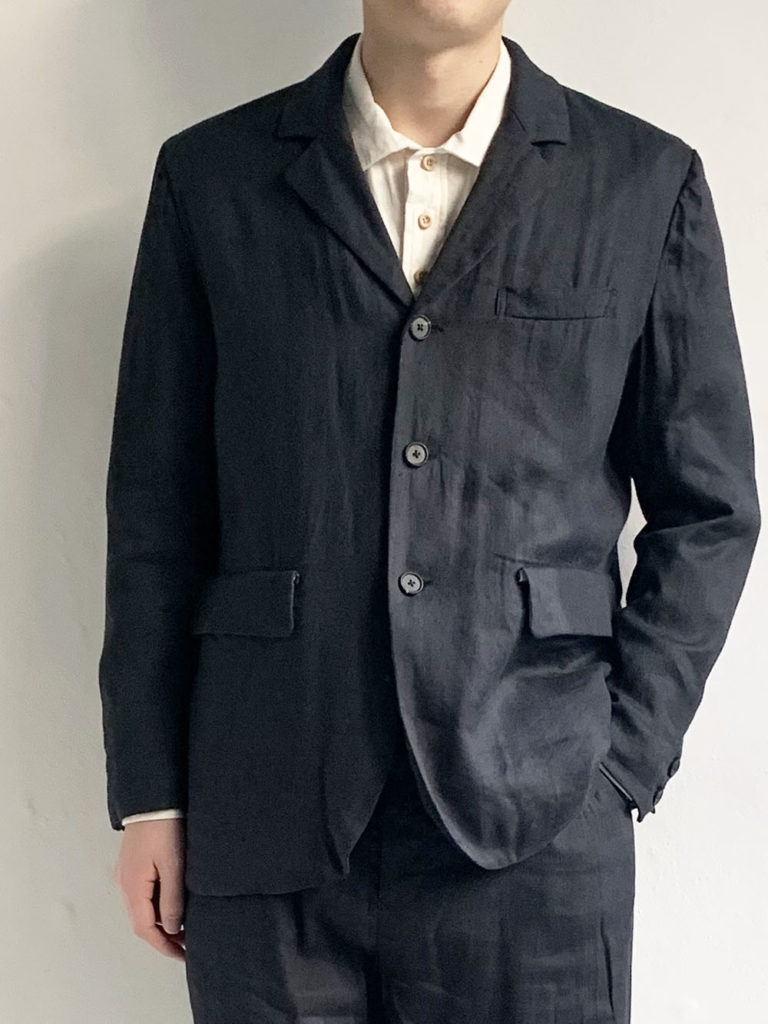 YAECA _ 3Bジャケット 40301 / Charcoal