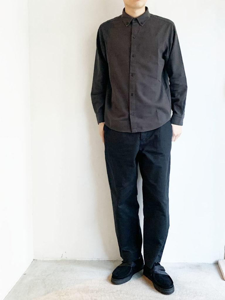 evam eva  _コットンウールシャツ / Stone gray