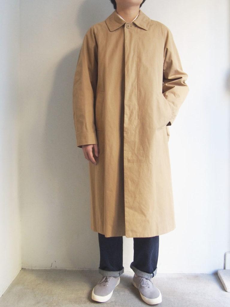 YAECA _ ステンカラーコート ロング 10503 / Khaki