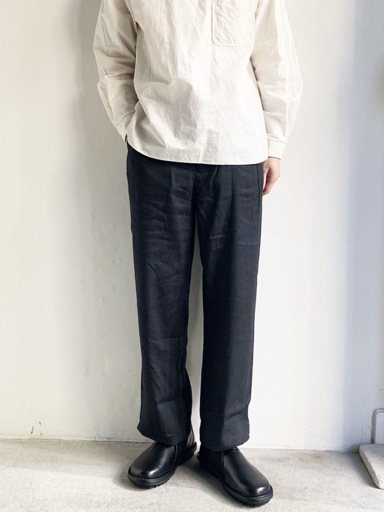 YAECA _ 3Bジャケットセットアップパンツ  40601 / Charcoal