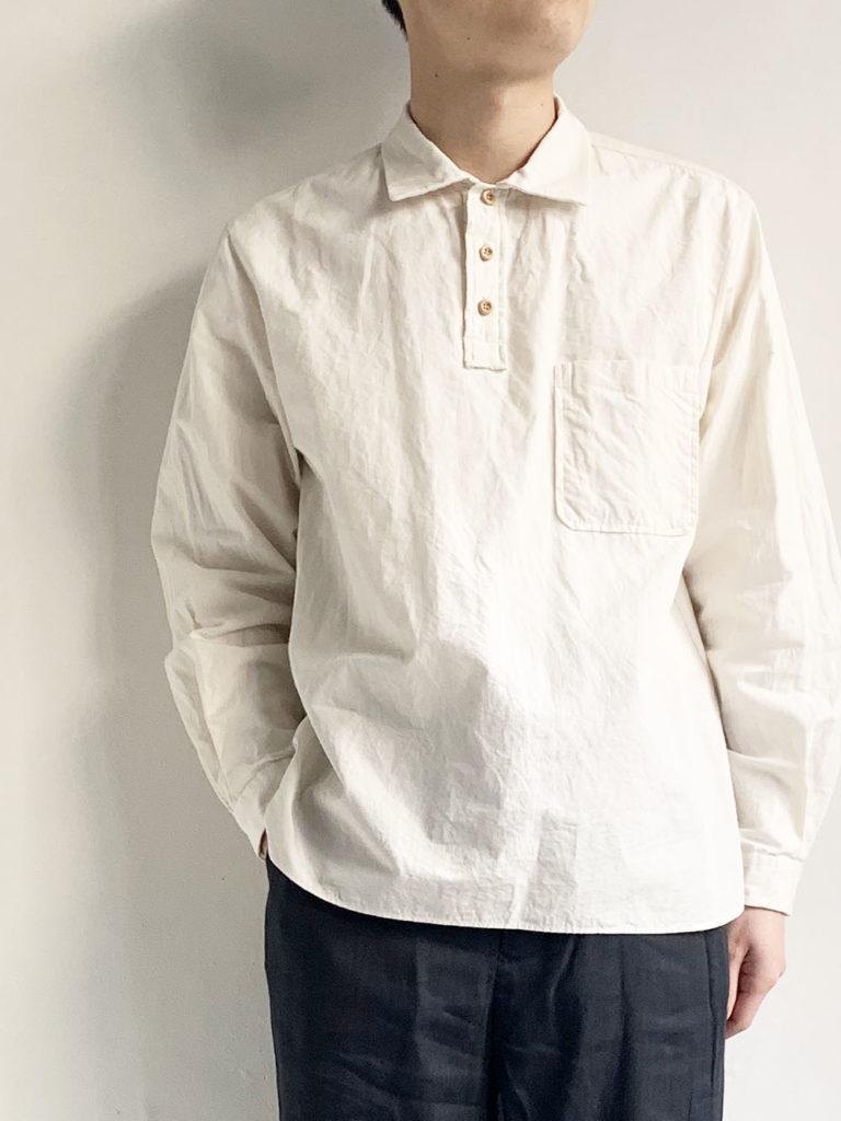 YAECA _ ボタンシャツ PO 40103 / L.beige