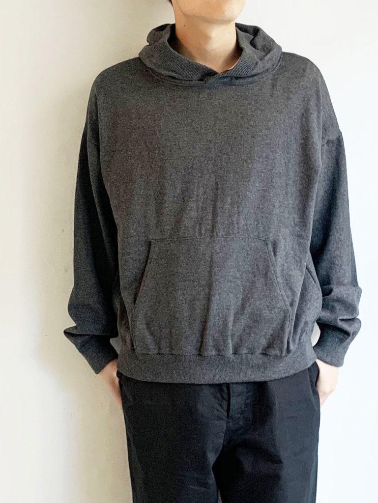 AULICO _ コットンカシミヤニットパーカー/ Gray