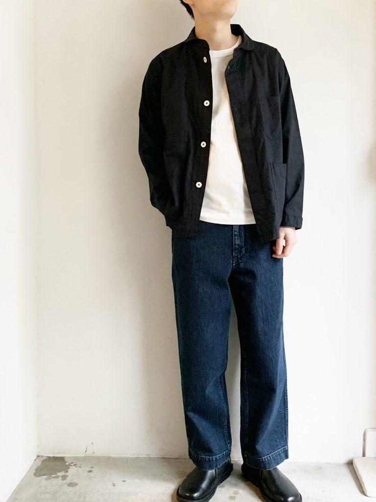 LOLO _ コードレーン丸襟カバーオール / Black